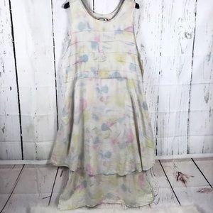 Flax Angelheart designs tie dye maxi dress size m